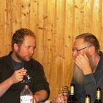 angeregtes Gespräch zwischen Marko Pfeiffer und Wilfried Löffler