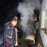Wintergrillen zum Neujahrstreffen 2013, Bernd Vogel am Grill