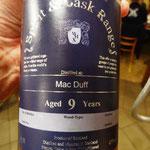MacDuff aus der Spirit & Cask Range, gesponsert von Volker Rätzke. Danke nochmals an Volker an dieser Stelle