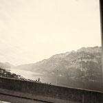 jetzt fahren wir durch die Schweiz