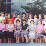 Коллектив библиотекарей Октябрьского района в 90-е годы.