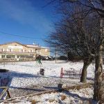 Jeux de boules sous la neige