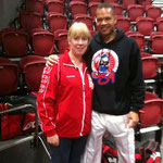 Debbie Dalton pictured with Raymond Daniels