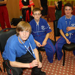 Kieren, Lewis and Max chilling out after their medal winning fights