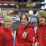 Vicki Elsigood, Lil Merricks and Cat Harris on their first year competing at the Irish Open