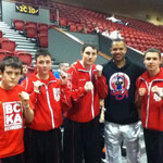 Jack Bristowe, Courtney Brown, Aaron Young and Grant Brown all photographed with Raymond Daniels