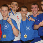 Alex Barrowman Jnr with the Boy's Semi Contact Team, World Champions 2010