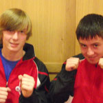 Kieren and Max ready to fight