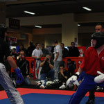 Kevin Williams in action in the Men's Black Belt Semi Contact Points -69kgs