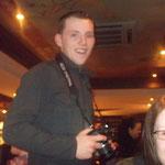 Ryan Winham and Jo Redman in the bar