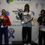 Nicola Gemmill on the podium with her second place trophy - well done Nicola!!