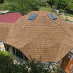 屋根が張り終わりました。
