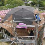 屋根張りが始まりました。