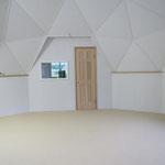 幾何学模様が美しいジオデシックドームの完成です!