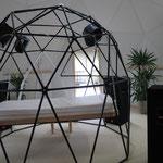ジオデシックドームの中のベーターシステムとは何とも贅沢です。