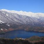 ハート形の青木湖