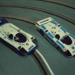 Les Porsche 956. n° 11 pour Rouen - n° 8 pour Thoiry.
