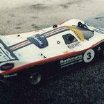 Cette Porsche 956 d'Olivier Demoget n'a pas pris le départ.