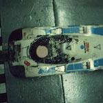 La Porsche 956 Blaupunkt fatiguée après 6 heures de course.