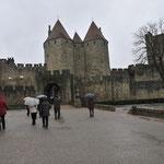 ヨーロッパ最大規模の城塞、カルカッソンヌ城壁に到着