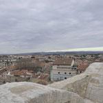 古代ローマの遺跡 世界遺産円形競技場 屋上から市街を観る