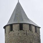 カルカッソンヌ城壁 三角の屋根は後付け、当初は不評だったが、今では人気が!