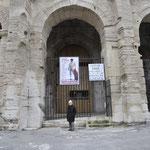 古代ローマの遺跡 世界遺産円形競技場 私も記念撮影