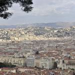 岩山の頂上まで登りニースの街を見下ろす⑤