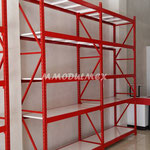 Rack de carga semipesada, Racks industriales, estanterías metálicas