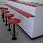 Barras para fastfood, barras para comida rápida, barras para café, muebles para cafetería