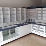 Vitrina para papelería, vitrina para farmacia, vitrina para tienda, vitrina para óptica, vitrinas de melamina, vitrinas exhibidoras