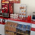 Barras para comida rápida, barras para fastfood, muebles para fastfood