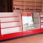 Vitrinas con costados curvo, vitrina para farmacia, vitrina para droguería, vitrina para papelería, vitrina de aluminio