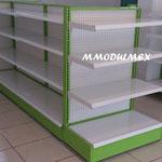 Góndolas metálicas, góndolas para abarrotes, góndolas centrales de metal, entrepaños metálicos, repisas metálicos, estantería metalica
