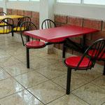 mesas, bancas para restaurantes, muebles para restaurantes, muebles para cocinas, barras para comedor, muebles para fastfood