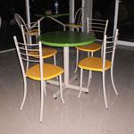 Mesas de fibra de vidrio