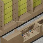 caja para supermercado, muebles de caja, cajas para minisuper, mueblels para cobro