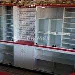 Muebles de tiendas oxxo, vitrinas para papelerías, vitrinas para farmacias, mostradores para farmacias, mostradores para papelerías, muebles para farmacias, muebles para papelerías, vitrinas aparadoras