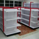Góndolas de madera, muebles de madera, anaqueles para tiendas, estantes de melamina, góndolas para abarrotes, góndolas para tienda