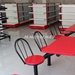 Bancas y mesas para restaurantes