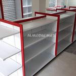 Góndolas centrales de melamina, góndolas para tiendas