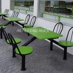 Bancas, mesas, asientos de fibra de vidrio