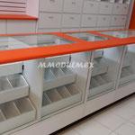 Vitrinas de madera, vitrinas metálicas, vitrinas para farmacias, vitrinas para papelerías