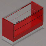 Diseño de vitrinas para papelerías, farmacias, joyerías