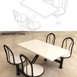 Mesas y bancas para comedores y restaurantes