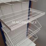 estantes para tiendas, góndolas para abarrotes, góndolas metálicas, anaqueles metálicos, muebles metálicos para negocio, estantes metálicos, canastillas de alambre