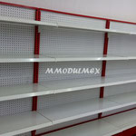 Entrepaños metálicos para supermercado