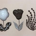 3つの花 リトグラフ 2015