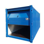 Containex Lagercontainer mit Sektionaltor (Feier a flam) sehr platzsparend zu öffnen !