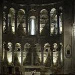 La fantastica abside della pieve